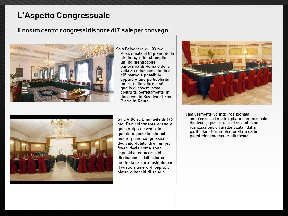 Page 10 Il nostro centro congressi dispone di 7 sale per convegni LAspetto Congressuale Sala Belvedere di 103 mq: Posizionata al 6° piano della strutt