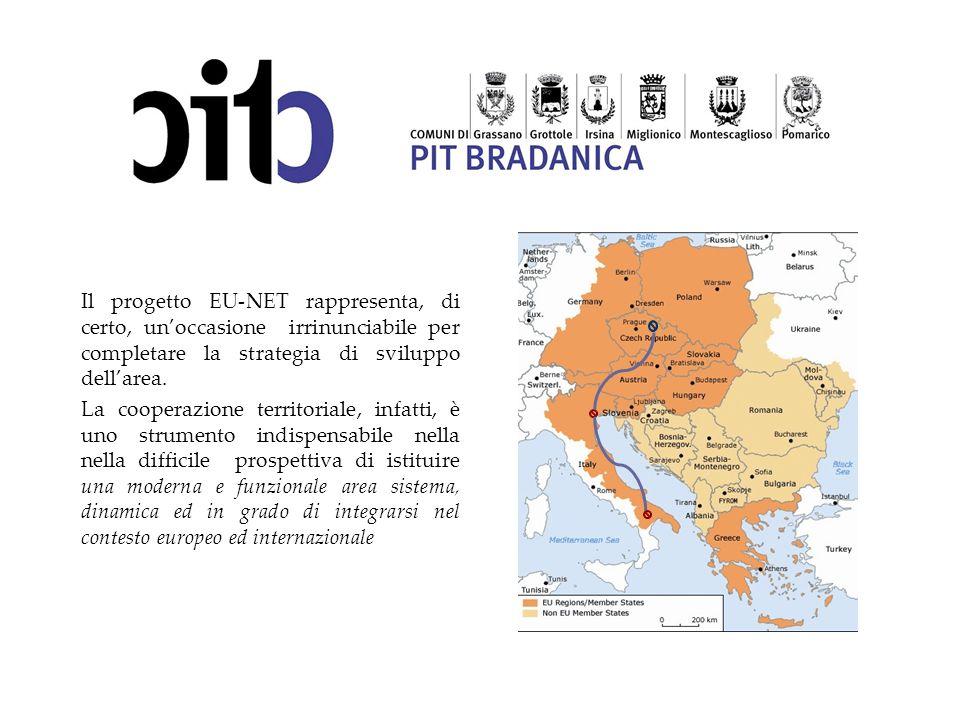Il progetto EU-NET rappresenta, di certo, unoccasione irrinunciabile per completare la strategia di sviluppo dellarea. La cooperazione territoriale, i