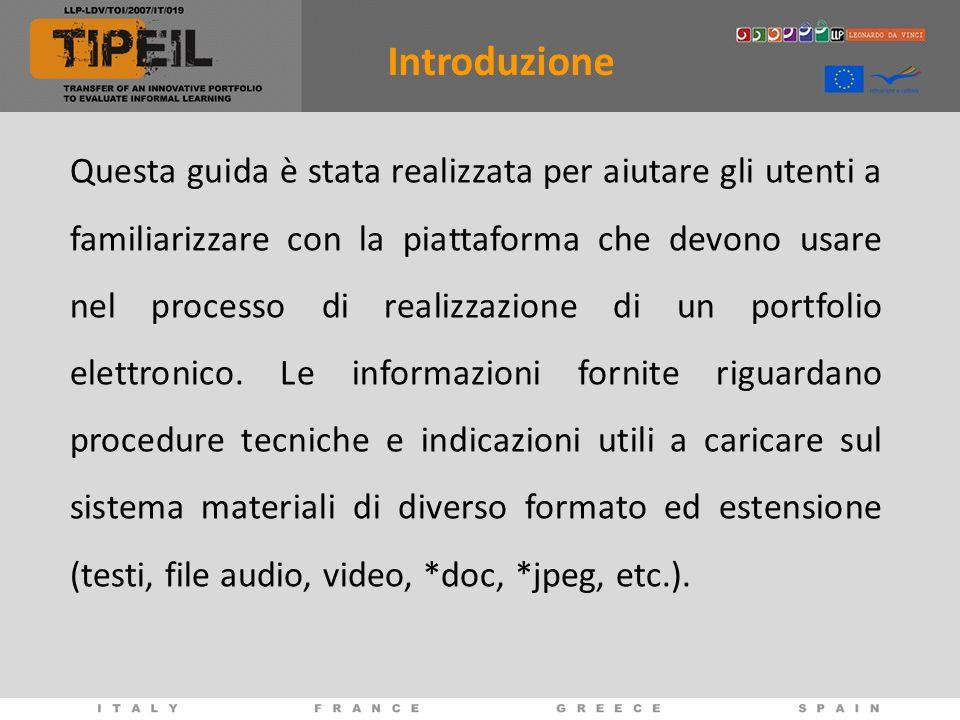 Questa guida è stata realizzata per aiutare gli utenti a familiarizzare con la piattaforma che devono usare nel processo di realizzazione di un portfolio elettronico.
