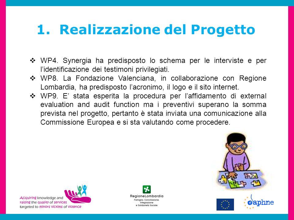 1. Realizzazione del Progetto WP4.
