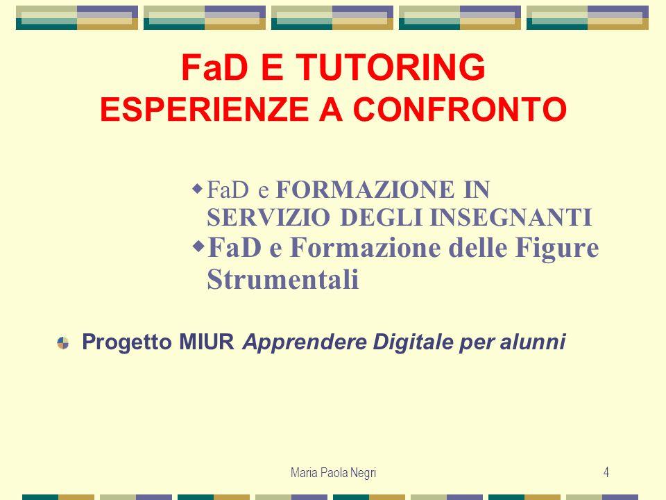 Maria Paola Negri5 Il contesto europeo EUROPEAN COMMISSION EDUCATION AND TRAINING EUROPASS entro il 2010