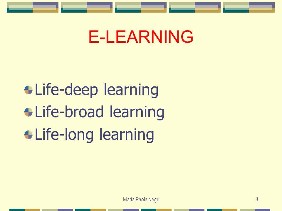 Maria Paola Negri9 Apprendimento e FaD Una opportunità per le scuole per: Innalzare il livello degli apprendimenti Aumentare il numero dei partecipanti Diminuire il tasso di abbandono