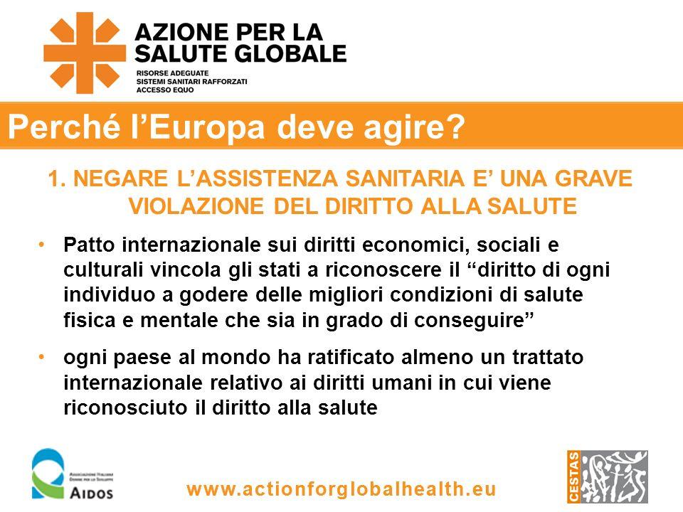 www.actionforglobalhealth.eu Perché lEuropa deve agire.