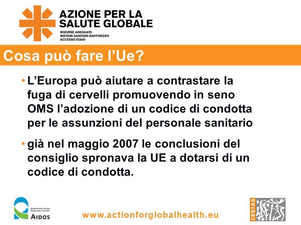 www.actionforglobalhealth.eu Cosa può fare lUe.