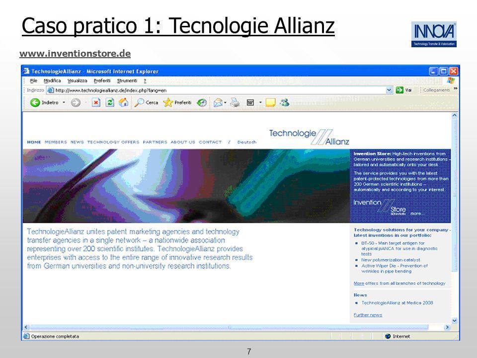 7 www.inventionstore.de Caso pratico 1: Tecnologie Allianz