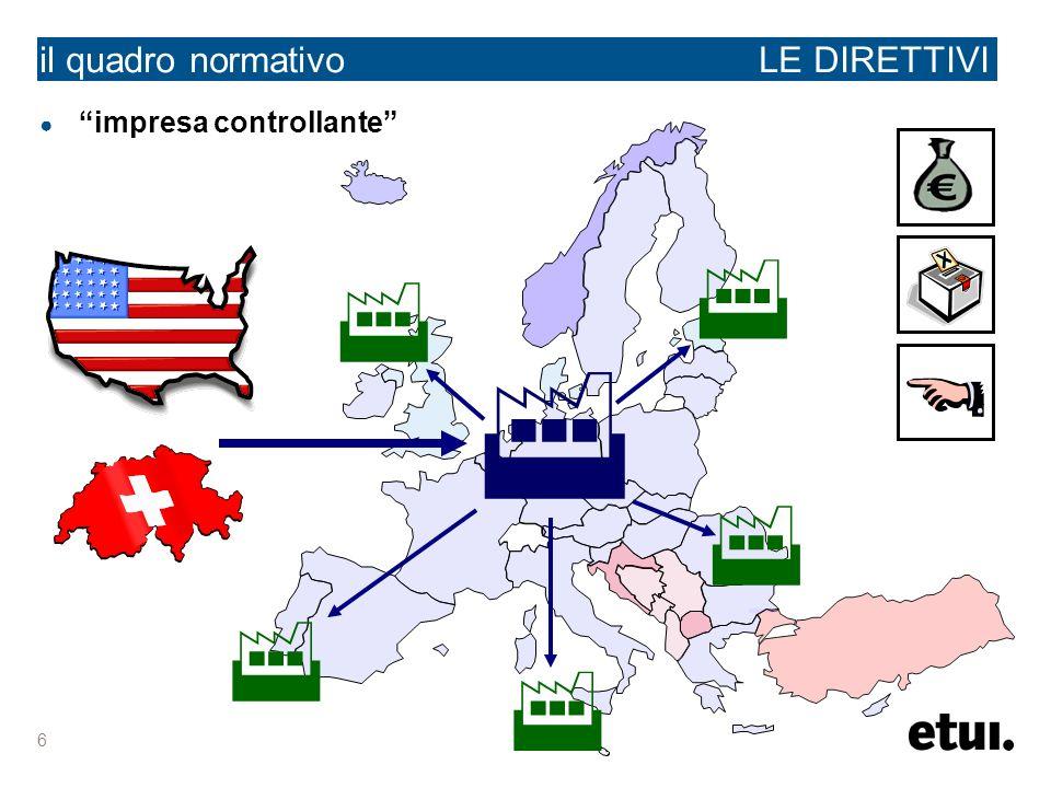 6 il quadro normativo LE DIRETTIVI impresa controllante