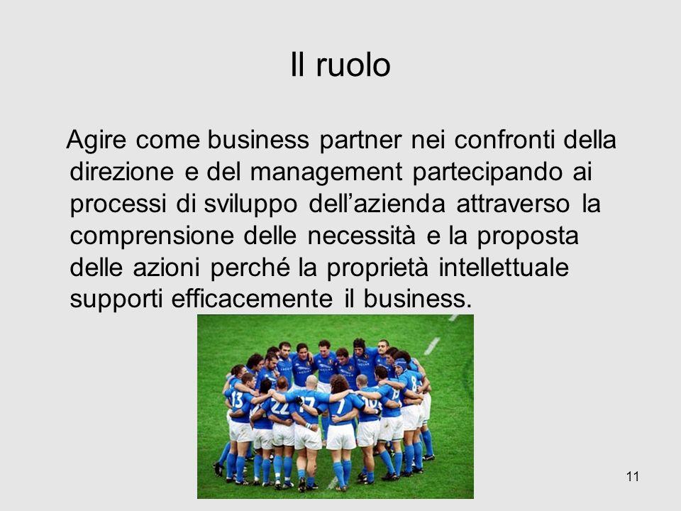 Il ruolo Agire come business partner nei confronti della direzione e del management partecipando ai processi di sviluppo dellazienda attraverso la com
