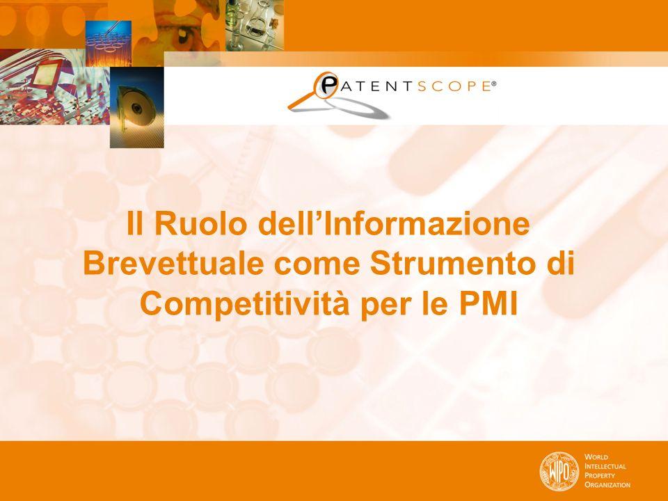 Il Ruolo dellInformazione Brevettuale come Strumento di Competitività per le PMI
