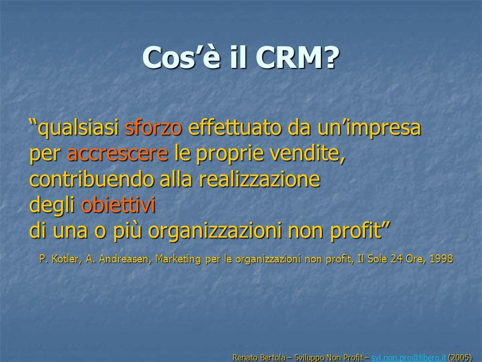 Cosè il CRM? qualsiasi sforzo effettuato da unimpresa per accrescere le proprie vendite, contribuendo alla realizzazione degli obiettivi di una o più