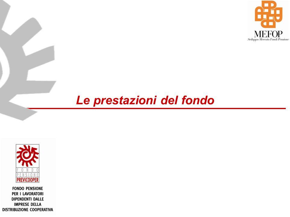 www.mefop.it Le prestazioni del fondo