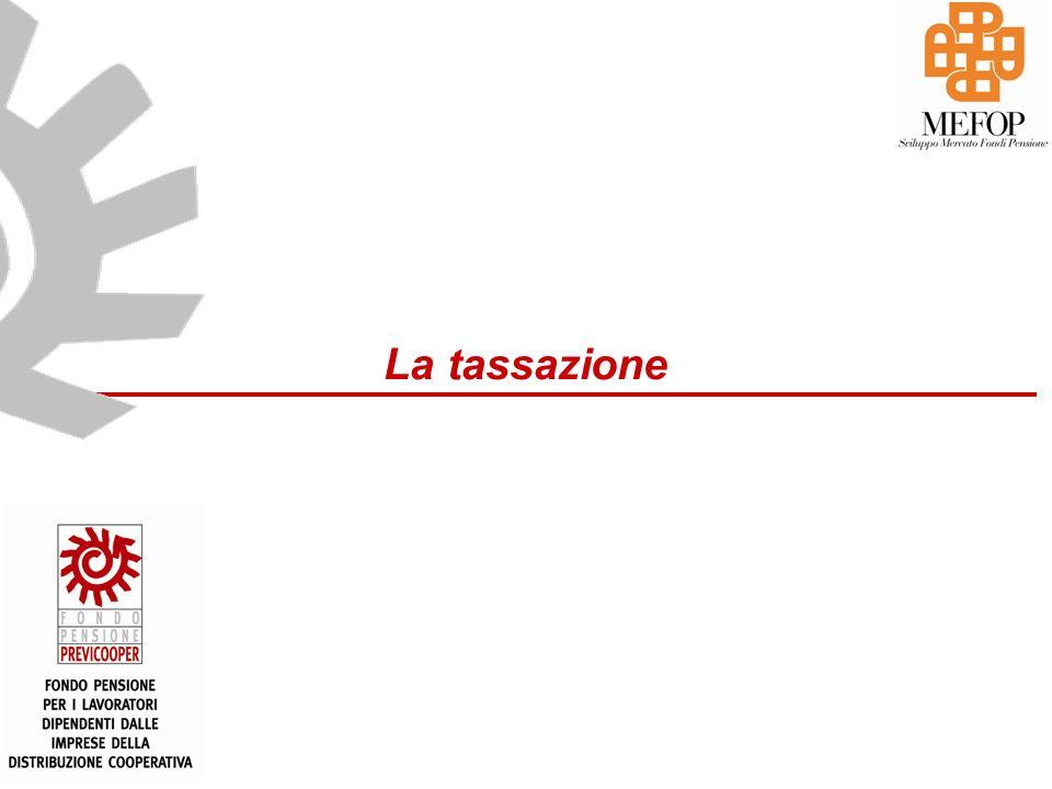 www.mefop.it La tassazione