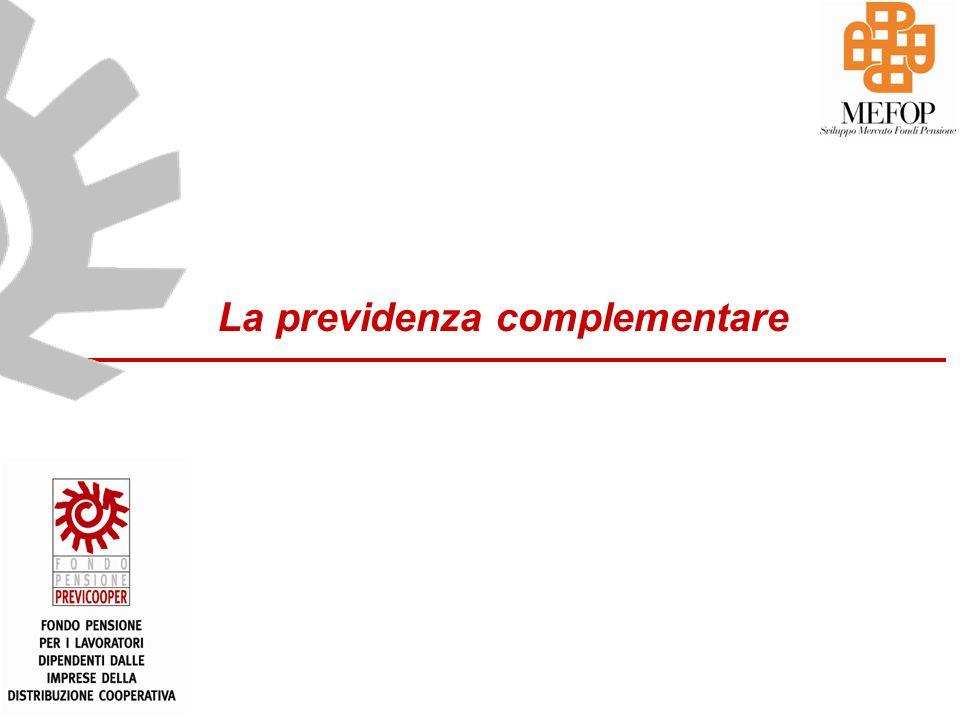 www.mefop.it 30 Le caratteristiche di Previcooper ADESIONE VOLONTARIA -il lavoratore sceglie di iscriversi volontariamente CONTRIBUZIONE DEFINITA -determinate le aliquote di contribuzione al Fondo CAPITALIZZAZIONE INDIVIDUALE -la posizione individuale è costituita dai contributi capitalizzati secondo i rendimenti realizzati dal comparto di appartenenza ADESIONE CHIUSA -Il fondo è rivolto ai lavoratori delle imprese rientranti nella sfera di applicazione del CCNL della distribuzione cooperativa e a settori affini PENSIONE COMPLEMENTARE -Obiettivo finale del fondo è garantire una pensione complementare a quella pubblica