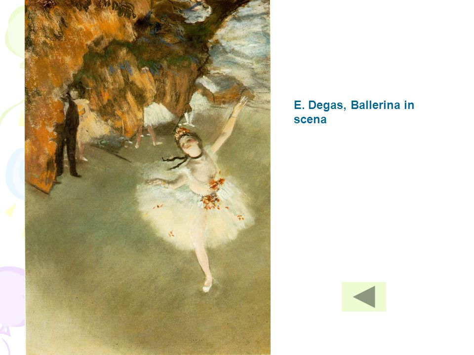 E. Degas, Ballerina in scena