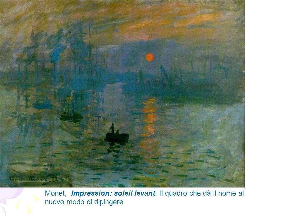 Monet, Impression: soleil levant; Il quadro che dà il nome al nuovo modo di dipingere