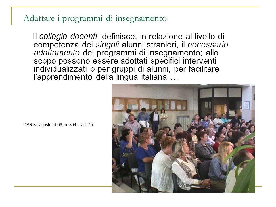 programmi di insegnamento Saperi, contenuti, discipline Approcci didattici Dispositivi e attività di supporto Aspetti organizzativi (articolazione oraria..)