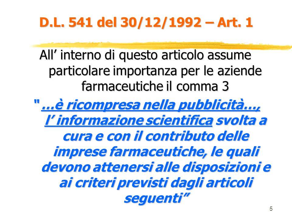 5 D.L.541 del 30/12/1992 – Art.