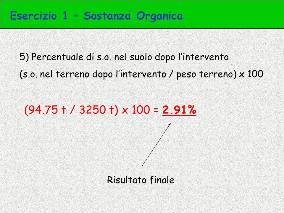 2) Calcolo il numero di semi in un ettaro [Semente su un ha (kg) / peso dei 1000 (kg)] x 1000 (numero) [111 kg ha -1 / 0.041 kg] x 1000 = 2707317 Numero di semi distribuiti su un ettaro Esercizio 3 – Semi