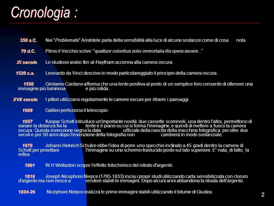 Storia della Meccanica Autori : Matteo Fumagalli Carlo Galli Cristian Guglielmetto Docente : Prof. Edoardo Rovida Storia della Macchina Fotografica Po