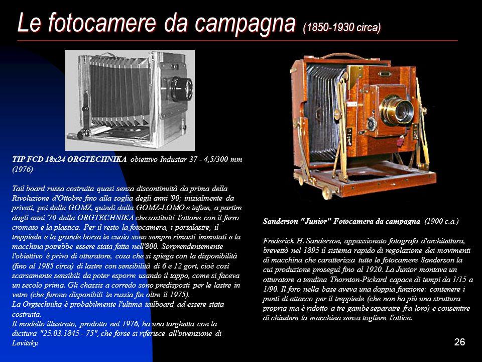 25 Le fotocamere da campagna (1850-1930 circa)