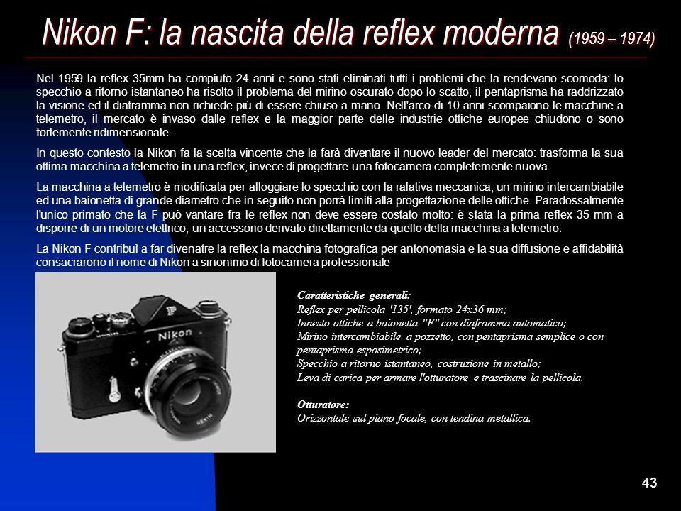 42 La seconda generazione di reflex 35mm (1948 – 1955) La chiusura del diaframma divenne automatica nel corso degli anni '50, grazie a tre modifiche s