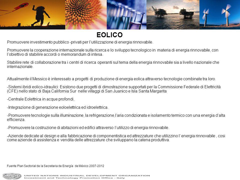 Promuovere investimento pubblico -privati per lutilizzazione di energia rinnovabile. Promuovere la cooperazione internazionale sulla ricerca e lo svil