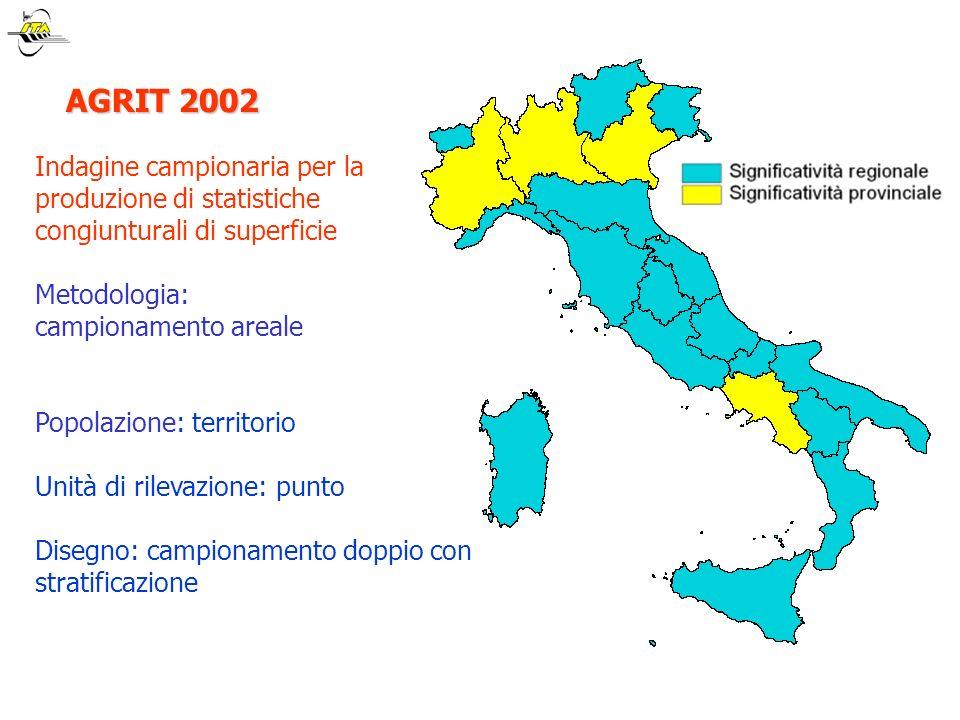 NATURA 2000 NATURA 2000 obiettivo: stima della SAU nelle Aree Natura 2000 territorio : 128 aree di interesse comunitario (269144 ha) 54 aree di interesse regionale (30788 ha)