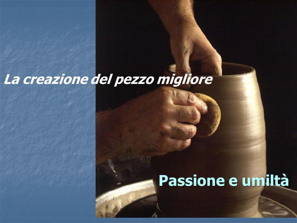La creazione del pezzo migliore Passione e umiltà