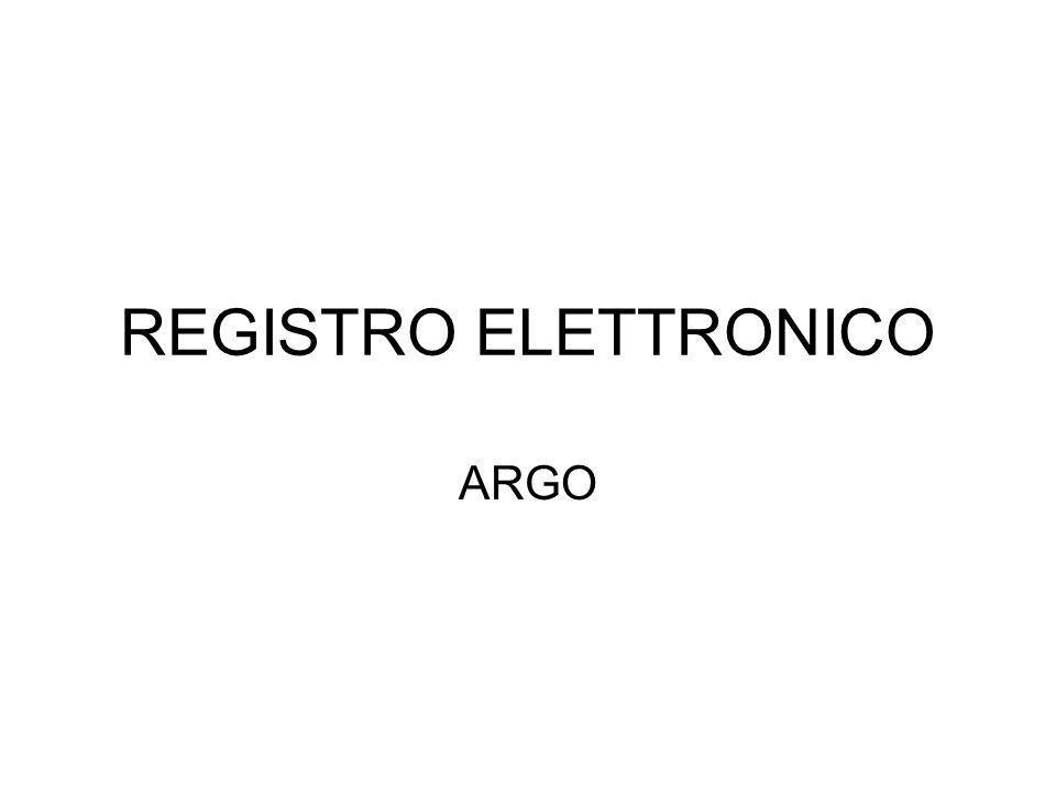 REGISTRO ELETTRONICO ARGO