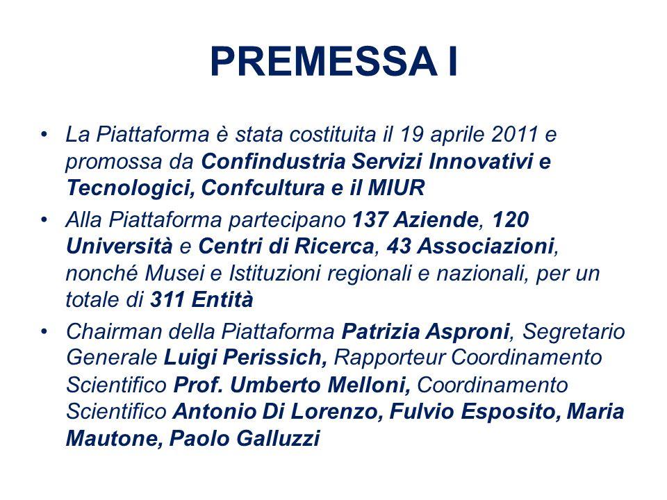 PREMESSA II Il Piano Strategico di Ricerca per il Patrimonio Culturale IPOCH2 è stato approvato allunanimità nella seduta del 10 Giugno 2011 della Piattaforma Tecnologica Italiana per la Patrimonio Culturale che si è tenuta a Roma presso la sede del MIUR.