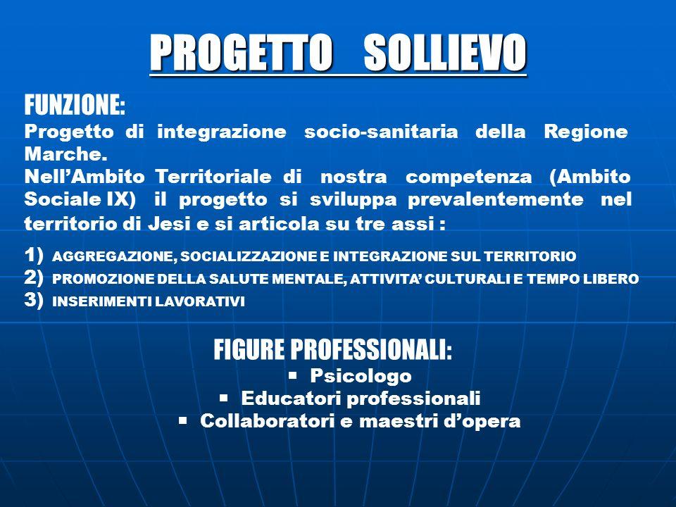 PROGETTO SOLLIEVO FUNZIONE: Progetto di integrazione socio-sanitaria della Regione Marche. NellAmbito Territoriale di nostra competenza (Ambito Social