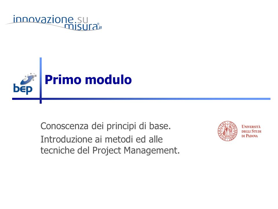 10/01/2011 Filippo Ghiraldo - Sviluppo e Gestione Progetti per Studenti di Strategie di Comunicazione 3 Cosè un progetto .