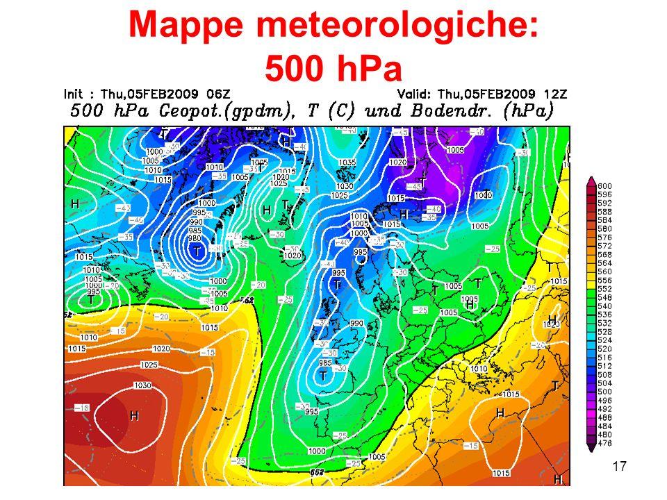 17 Mappe meteorologiche: 500 hPa