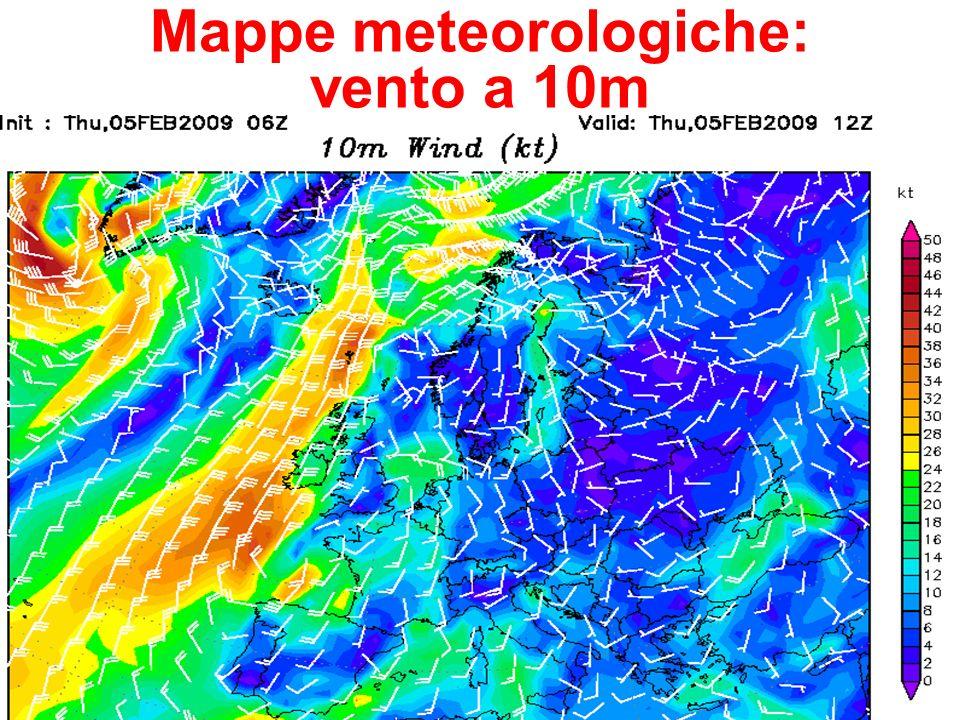 26 Mappe meteorologiche: vento a 10m