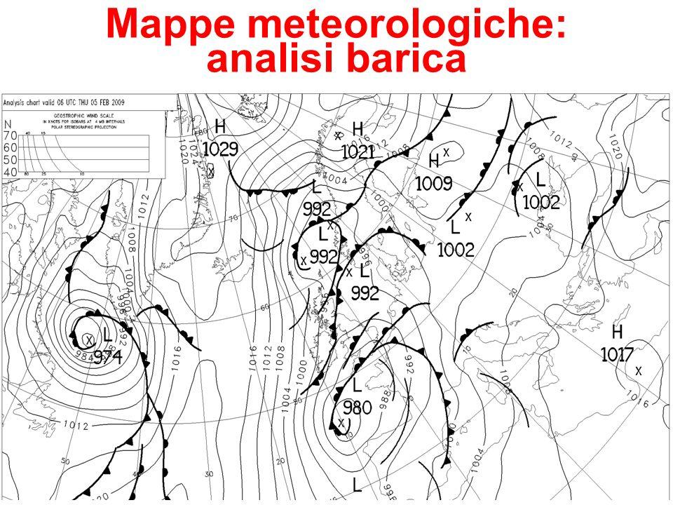 32 Mappe meteorologiche: analisi barica