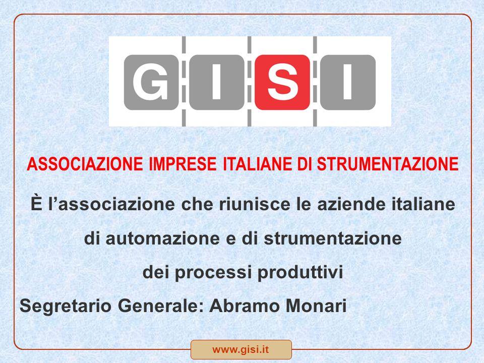 www.gisi.it ASSOCIAZIONE IMPRESE ITALIANE DI STRUMENTAZIONE È lassociazione che riunisce le aziende italiane di automazione e di strumentazione dei pr