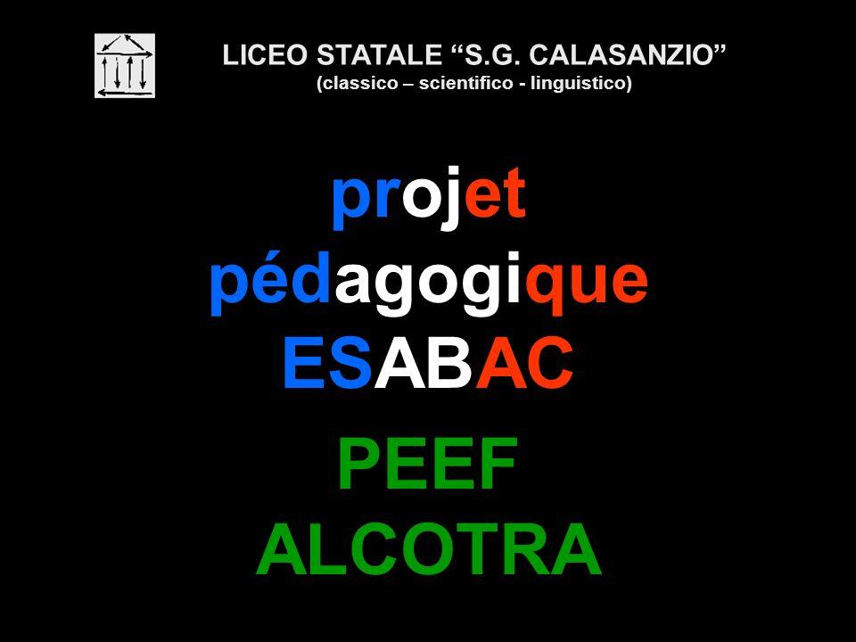projet pédagogique ESABAC PEEF ALCOTRA LICEO STATALE S.G. CALASANZIO (classico – scientifico - linguistico)