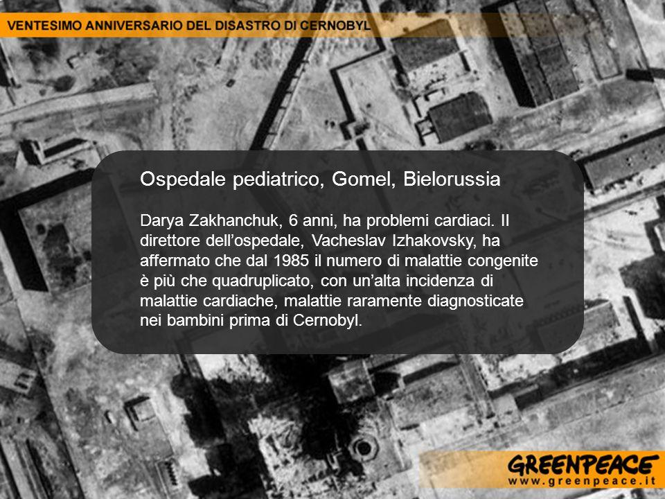 Ospedale pediatrico, Gomel, Bielorussia Darya Zakhanchuk, 6 anni, ha problemi cardiaci. Il direttore dellospedale, Vacheslav Izhakovsky, ha affermato