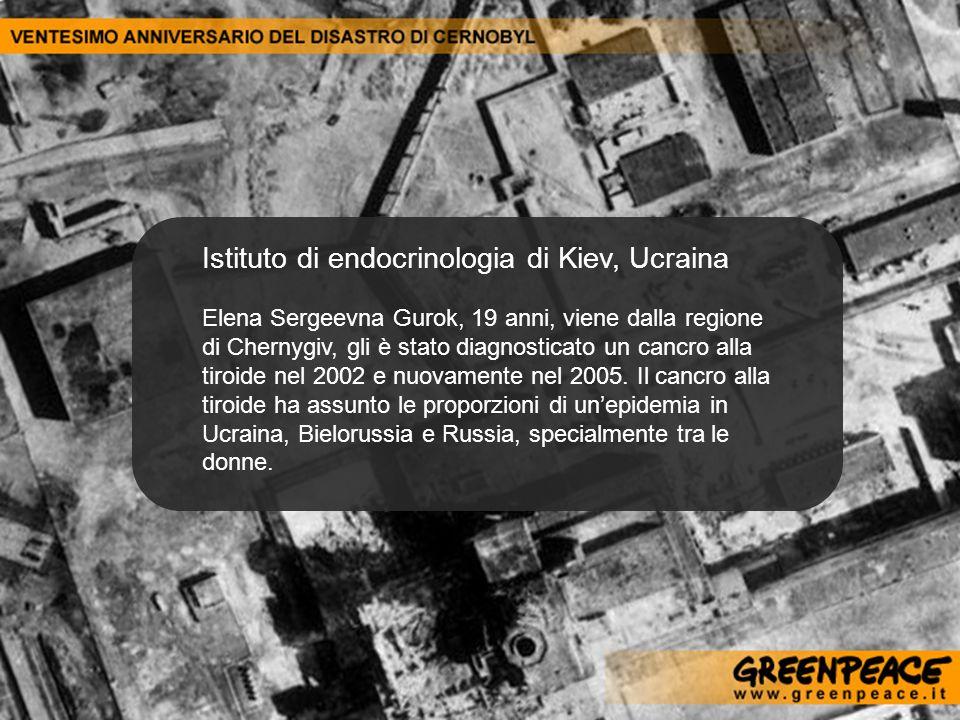 Istituto di endocrinologia di Kiev, Ucraina Elena Sergeevna Gurok, 19 anni, viene dalla regione di Chernygiv, gli è stato diagnosticato un cancro alla