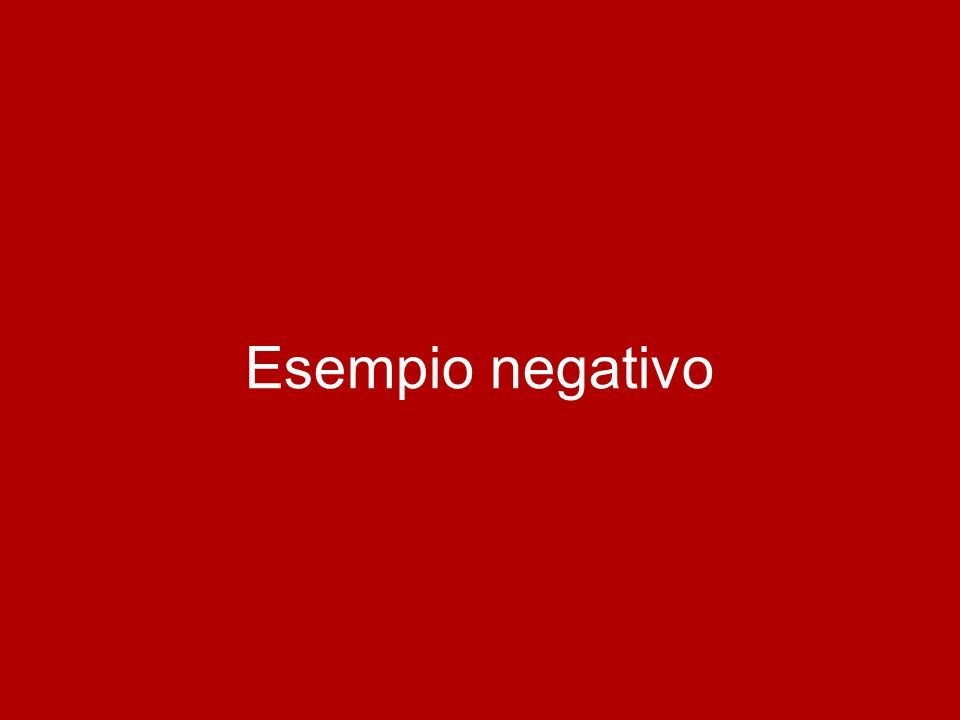 Esempio negativo