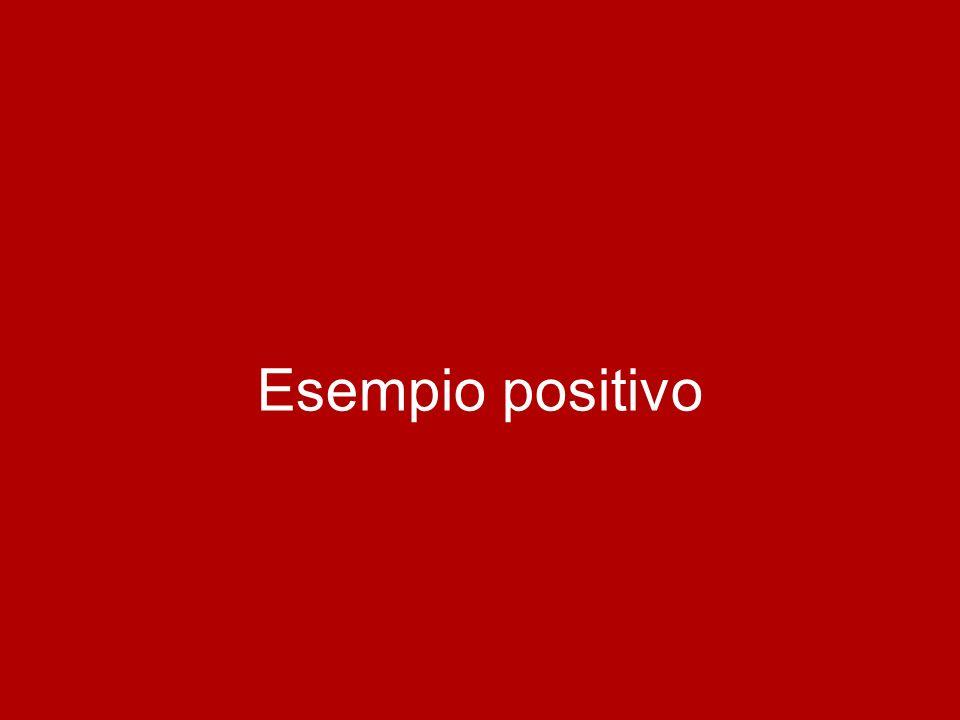 Esempio positivo