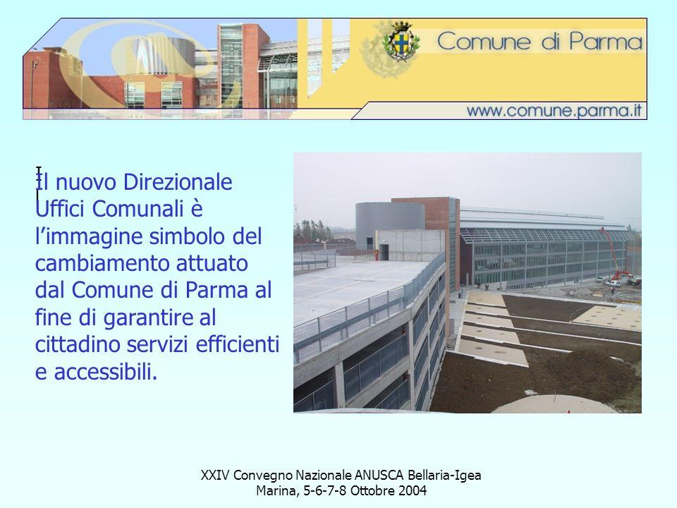 XXIV Convegno Nazionale ANUSCA Bellaria-Igea Marina, 5-6-7-8 Ottobre 2004 IlIl Il nuovo Direzionale Uffici Comunali è limmagine simbolo del cambiament