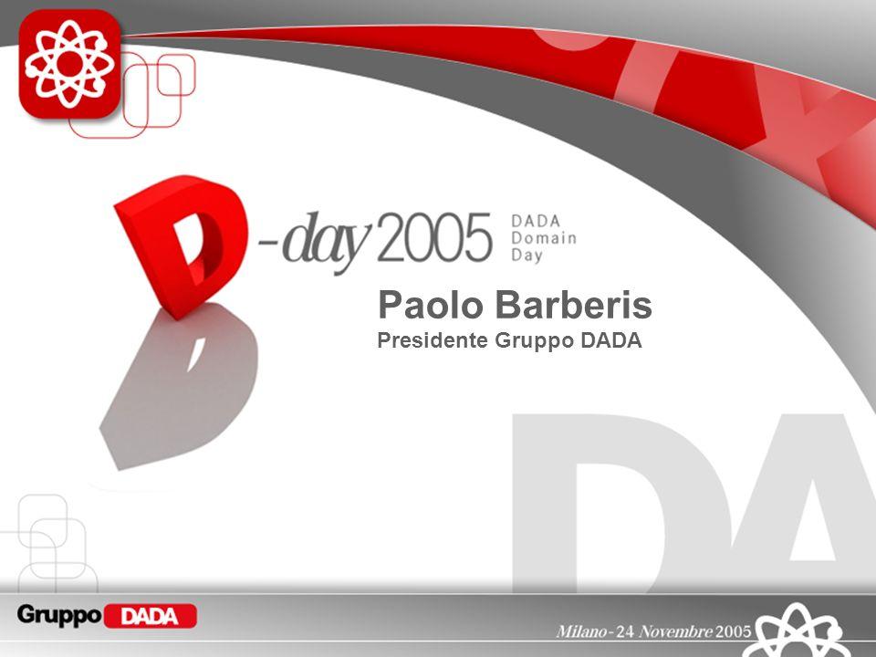 1 Paolo Barberis Presidente Gruppo DADA