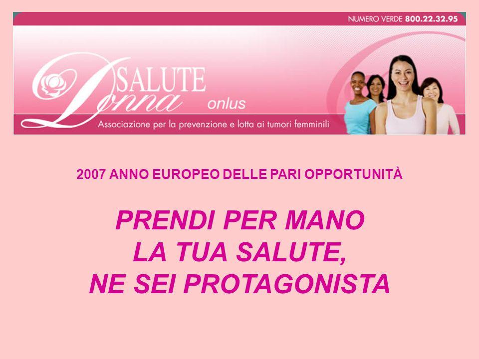 2007 ANNO EUROPEO DELLE PARI OPPORTUNITÀ PRENDI PER MANO LA TUA SALUTE, NE SEI PROTAGONISTA