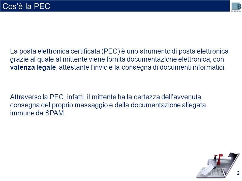 La posta elettronica certificata (PEC) è uno strumento di posta elettronica grazie al quale al mittente viene fornita documentazione elettronica, con