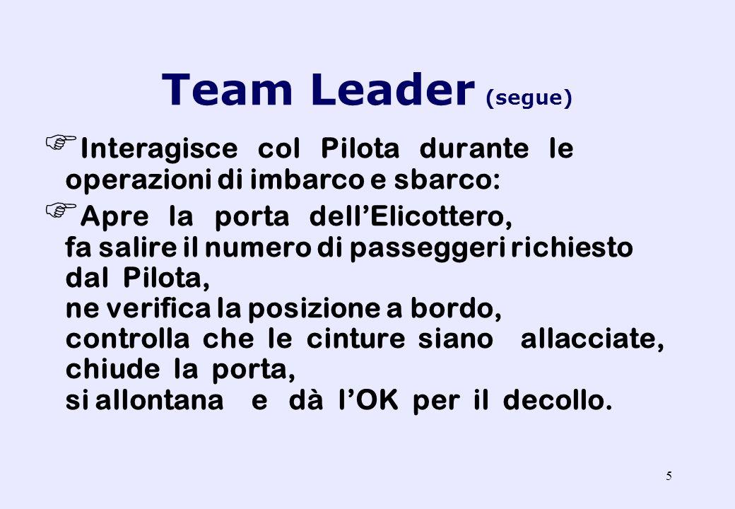 4 Team Leader: E il responsabile delle operazioni a terra e dei componenti del proprio Team. Cerca una zona di atterraggio e la segnala al Pilota (eve
