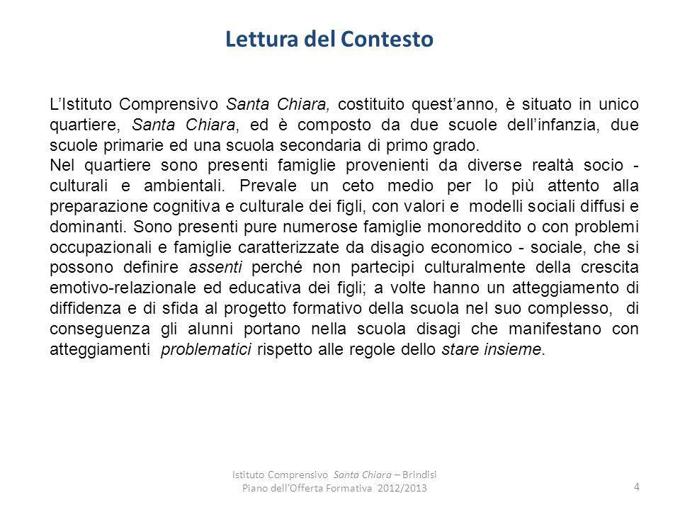 Organizzazione dellIstituto Comprensivo Santa Chiara Strutture Scuola dInfanzia Jean Piaget Via Magenta n.
