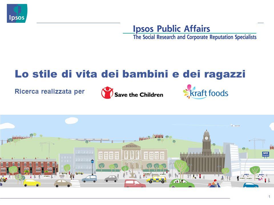 1 © 2011 Ipsos Lo stile di vita dei bambini e dei ragazzi Ricerca realizzata per