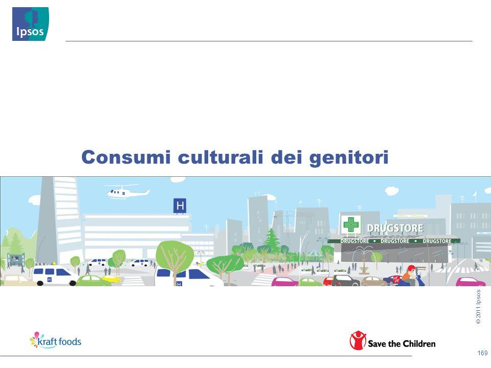 169 © 2011 Ipsos Consumi culturali dei genitori