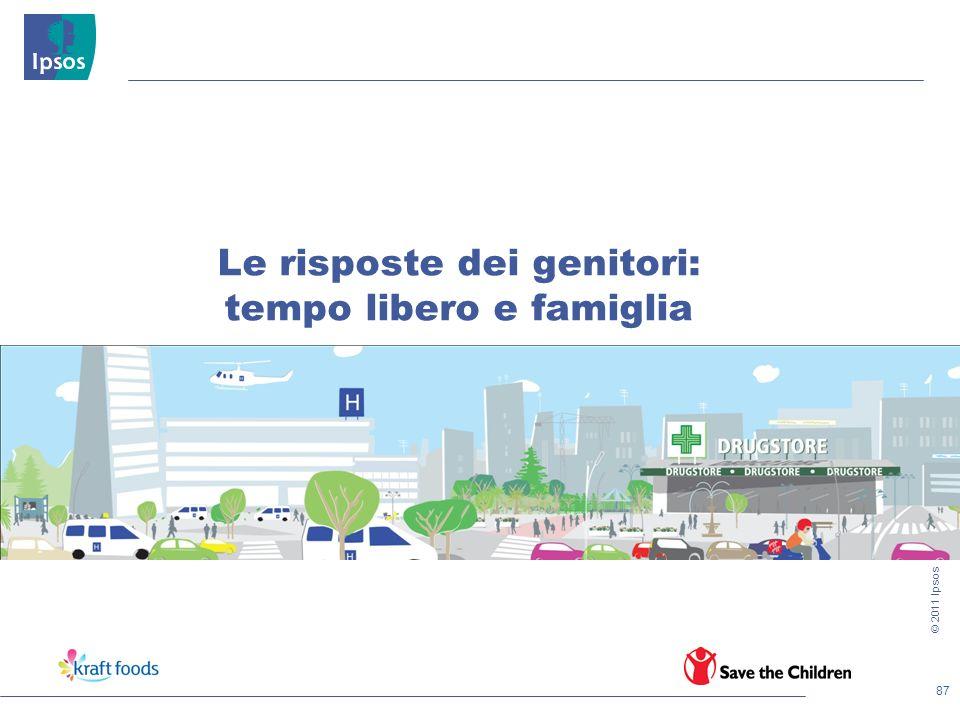 87 © 2011 Ipsos Le risposte dei genitori: tempo libero e famiglia