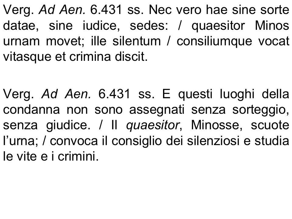 Ruolo dellurna: 1) Scelta dei giudici che comporranno il collegio 2) Deposito delle tabellae per il voto